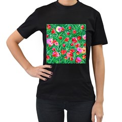 Flower Dreams Womens' T-shirt (Black)