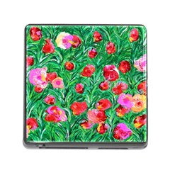 Flower Dreams Memory Card Reader with Storage (Square)