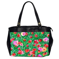 Flower Dreams Oversize Office Handbag (Two Sides)