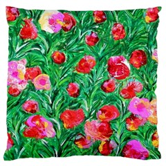 Flower Dreams Large Cushion Case (one Side)