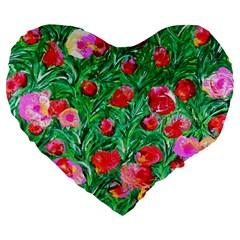 Flower Dreams 19  Premium Heart Shape Cushion