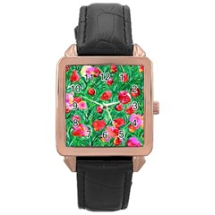 Flower Dreams Rose Gold Leather Watch
