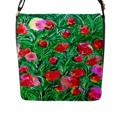 Flower Dreams Flap Closure Messenger Bag (Large)