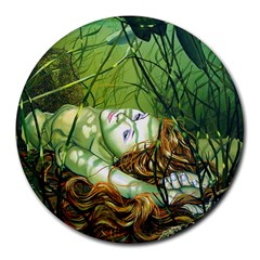 Amber 8  Mouse Pad (round)