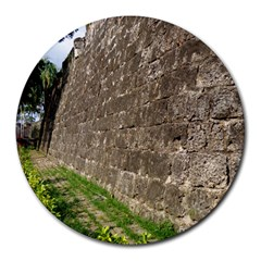 Wall of the Historical Fort San Pedro 8  Mouse Pad (Round)