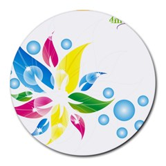 flower  design 8  Mouse Pad (Round)