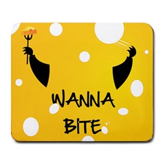 Wanna Bite Large Mouse Pad (rectangle)