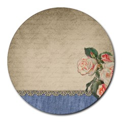 vintage 8  Mouse Pad (Round)