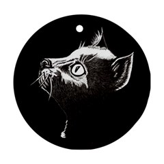 Shadow Cat Round Ornament