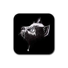 Shadow Cat Drink Coaster (Square)