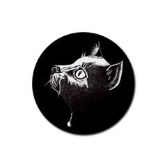 Shadow Cat Drink Coaster (round)