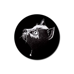 Shadow Cat Drink Coasters 4 Pack (Round)