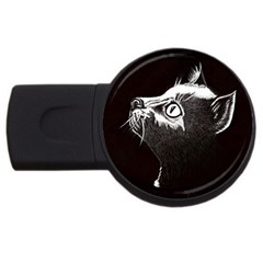 Shadow Cat 1GB USB Flash Drive (Round)