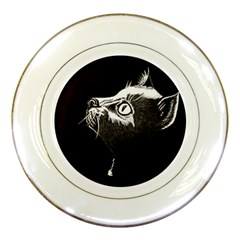 Shadow Cat Porcelain Display Plate