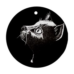 Shadow Cat Round Ornament (Two Sides)