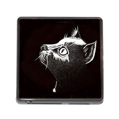 Shadow Cat Memory Card Reader with Storage (Square)