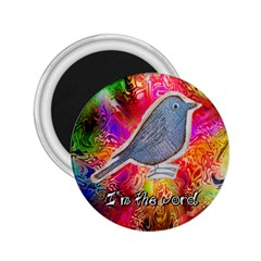 Birds The Word 2 25  Button Magnet