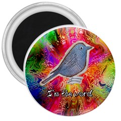 Birds The Word 3  Button Magnet