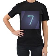 Seven Women s Black T-Shirt (Two Sides)