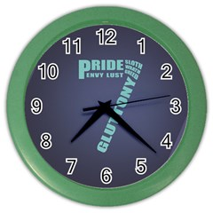 Seven Color Wall Clock