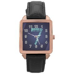 Seven Rose Gold Leather Watch