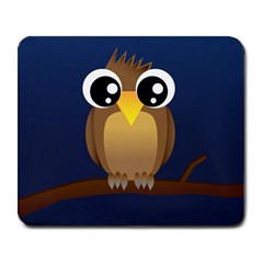 Cute Owl Large Mouse Pad (Rectangle)