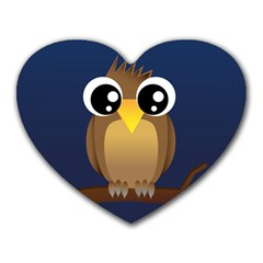 Cute Owl Mouse Pad (Heart)
