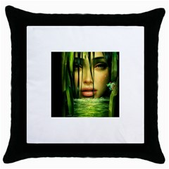 Capture Black Throw Pillow Case