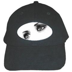Eyes  Black Baseball Cap