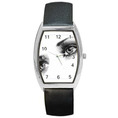 Eyes  Tonneau Leather Watch
