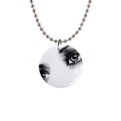 Eyes  Button Necklace