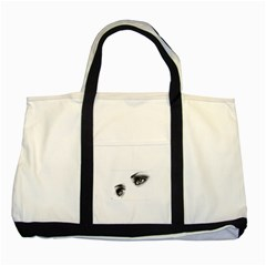 Eyes  Two Toned Tote Bag