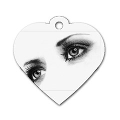 Eyes  Dog Tag Heart (Two Sided)