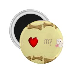 I Love My Dog! II 2.25  Button Magnet