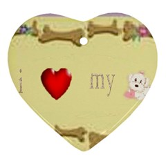 I Love My Dog! II Heart Ornament