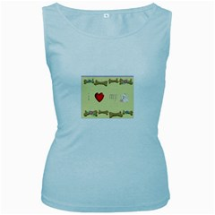 I Love My Dog! II Womens  Tank Top (Baby Blue)