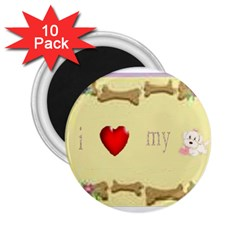 I Love My Dog! Ii 2 25  Button Magnet (10 Pack)