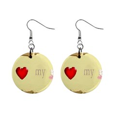 I Love My Dog! II Mini Button Earrings