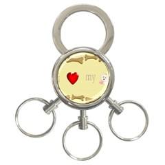 I Love My Dog! Ii 3 Ring Key Chain