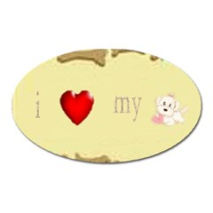 I Love My Dog! II Magnet (Oval)