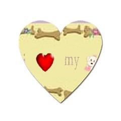 I Love My Dog! II Magnet (Heart)