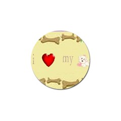 I Love My Dog! Ii Golf Ball Marker