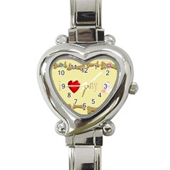 I Love My Dog! II Heart Italian Charm Watch