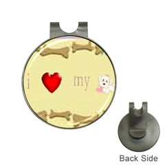 I Love My Dog! Ii Hat Clip With Golf Ball Marker