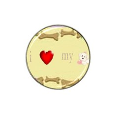 I Love My Dog! Ii Golf Ball Marker 4 Pack (for Hat Clip)