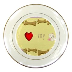 I Love My Dog! II Porcelain Display Plate