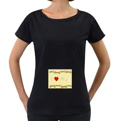 I Love My Dog! Ii Womens' Maternity T Shirt (black)