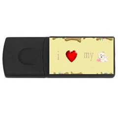 I Love My Dog! Ii 4gb Usb Flash Drive (rectangle)