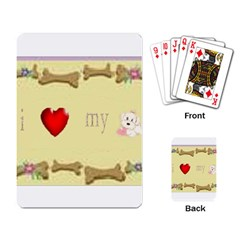 I Love My Dog! II Playing Cards Single Design