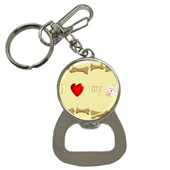 I Love My Dog! II Bottle Opener Key Chain